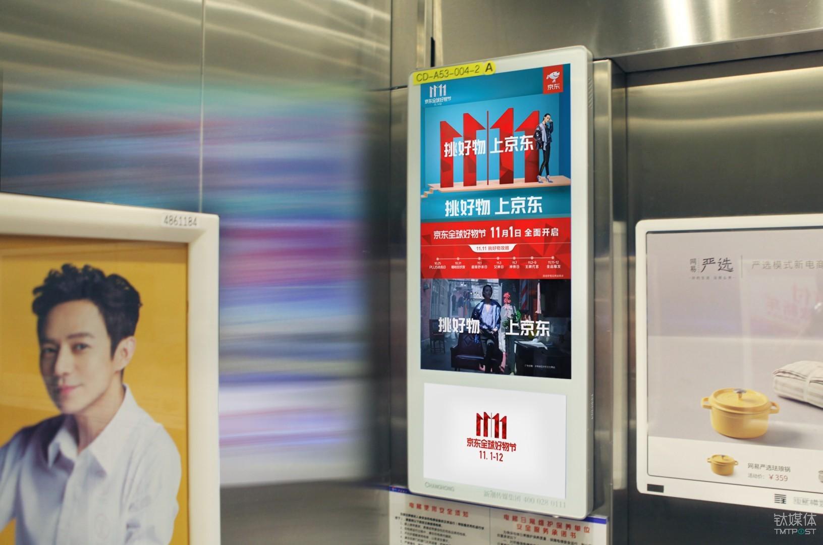 △京东新潮电梯广告