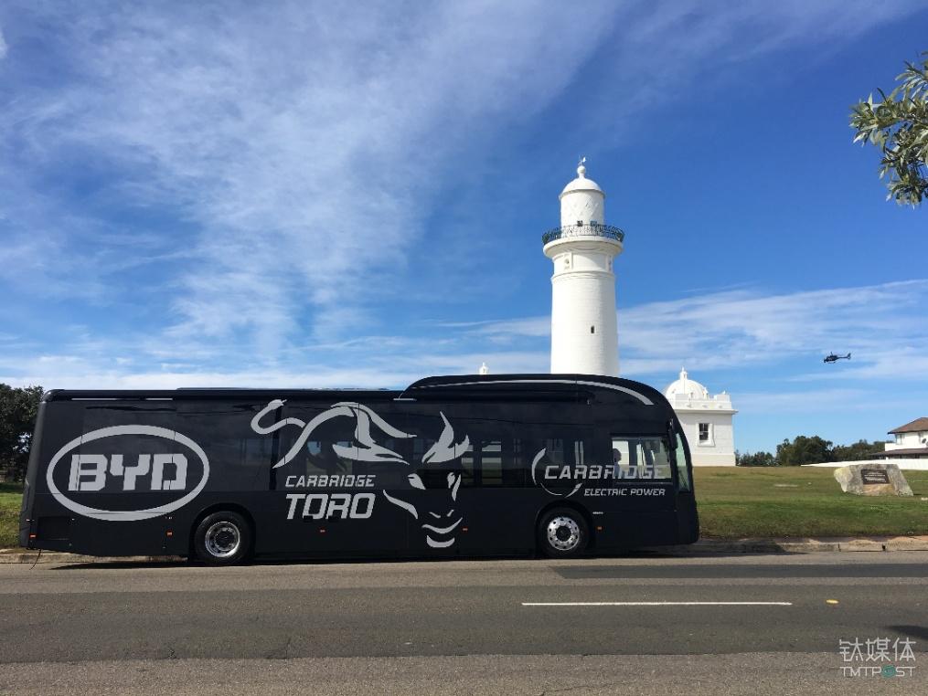 比亚迪纯电动大巴在澳大利亚运行
