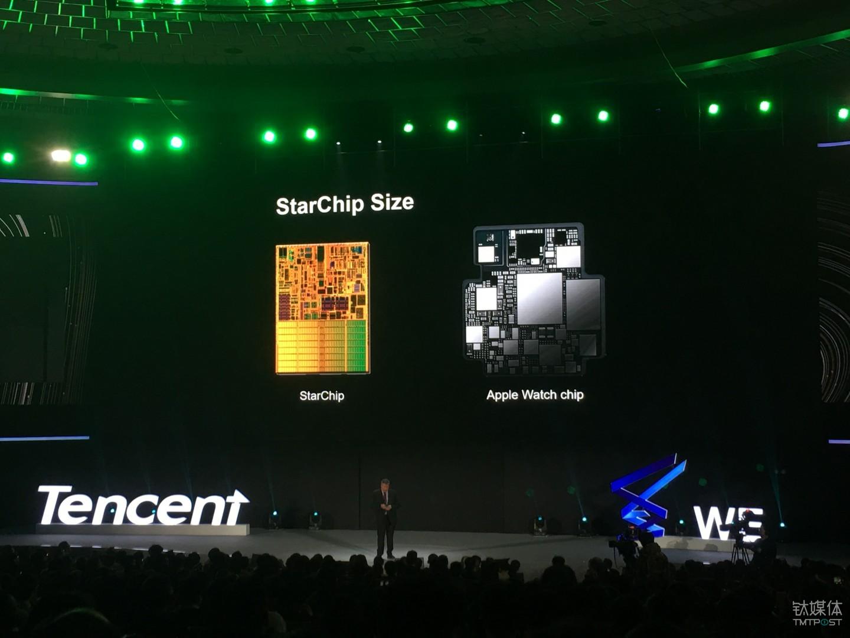 """和苹果手表芯片大小类似的""""星芯片"""""""