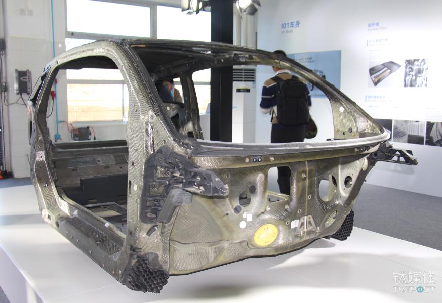 宝马i3的碳纤维车架