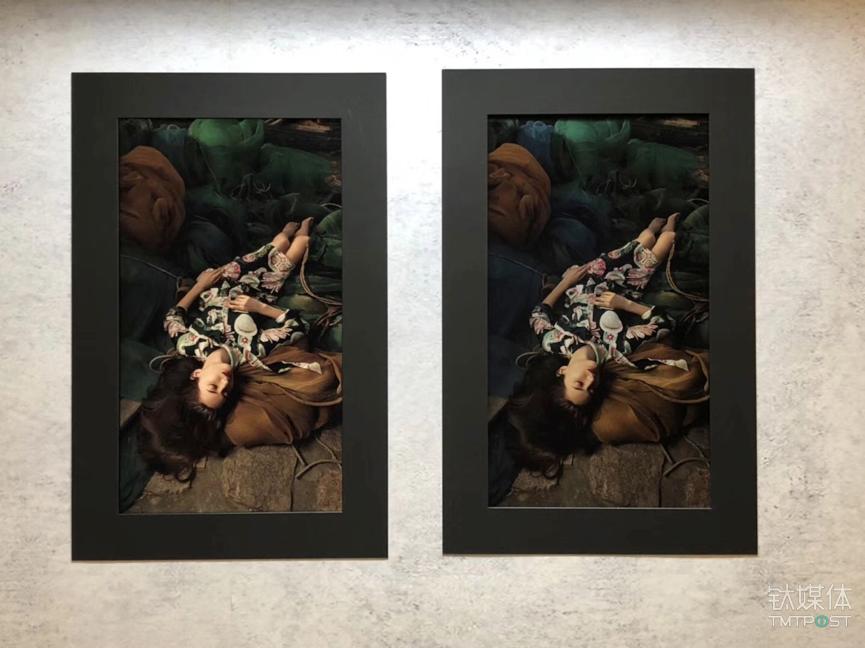 艺术品仿真展项-左侧NEC显示器,右侧艺术画
