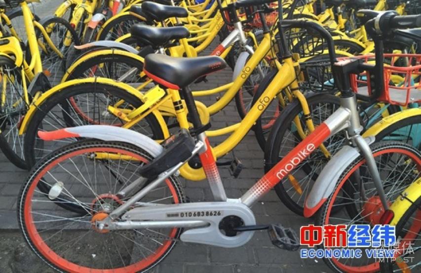 路边停放的共享单车。中新经纬 刘虹利 摄