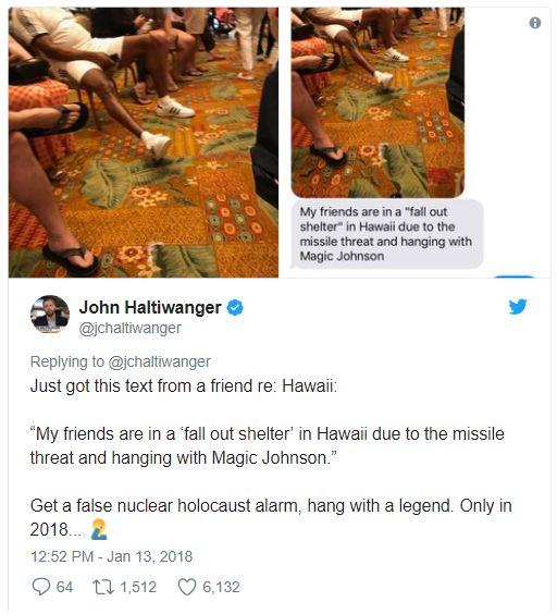 避难室偶遇约翰逊的网友