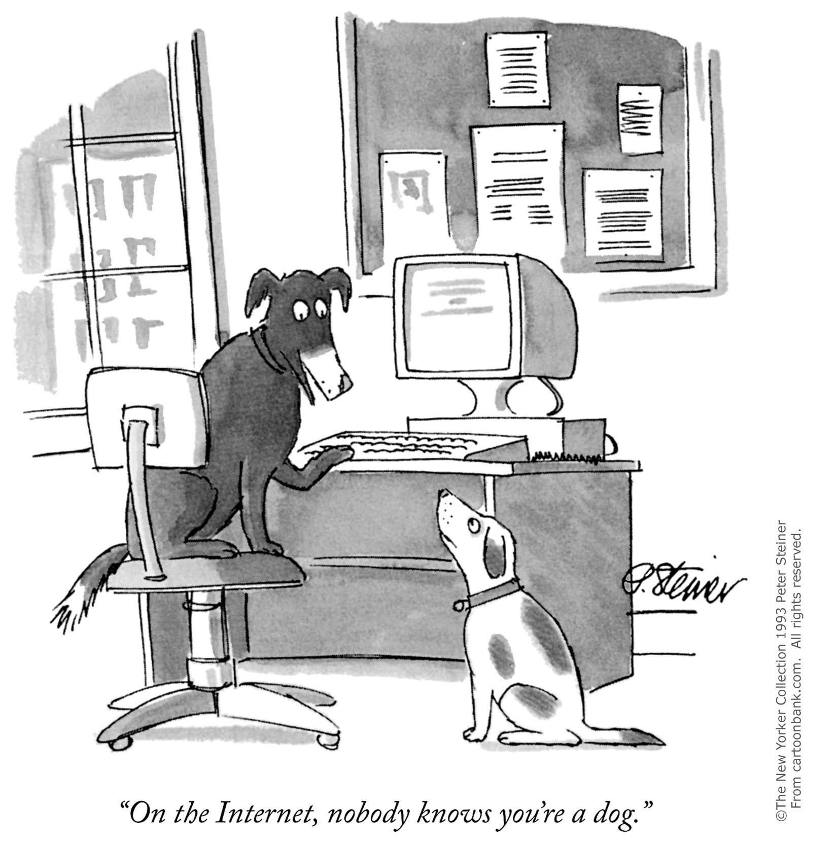 《纽约客》的这幅漫画成为早期互联网最逼真的写照