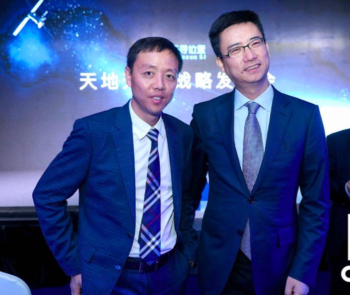 千寻位置CEO陈金培和阿里云总裁胡晓明