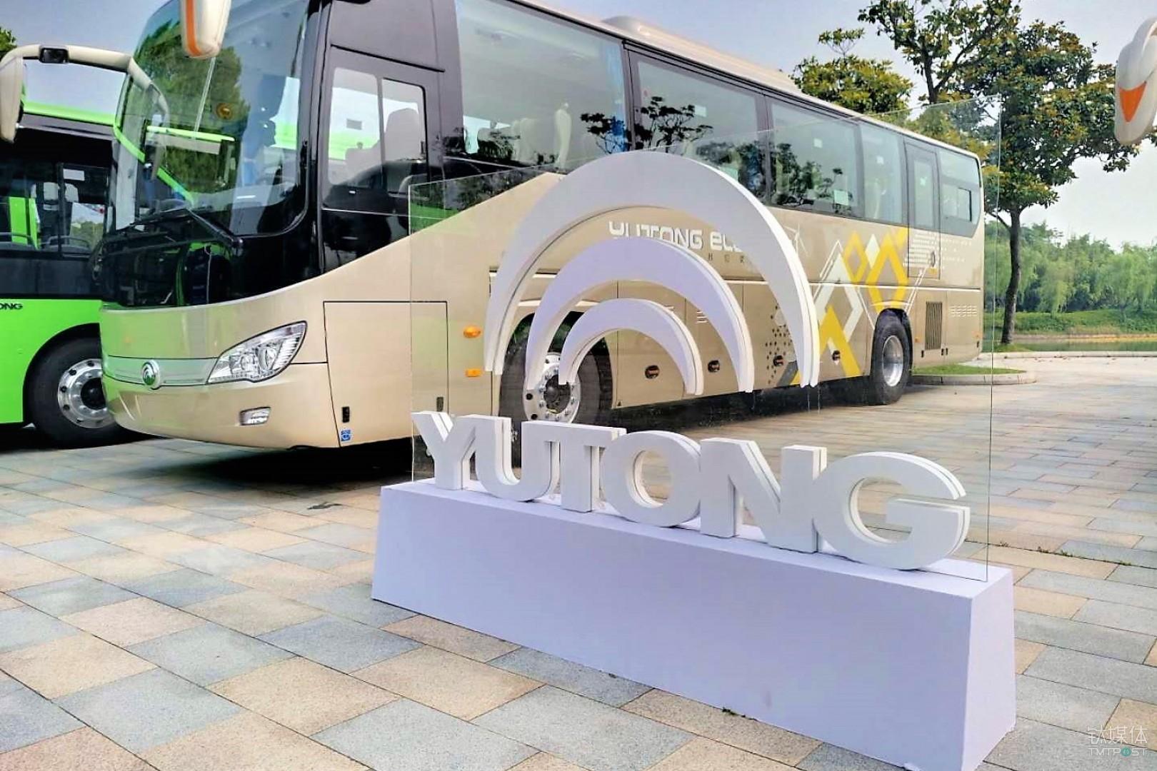 宇通活动现场展示全系纯电动巴士