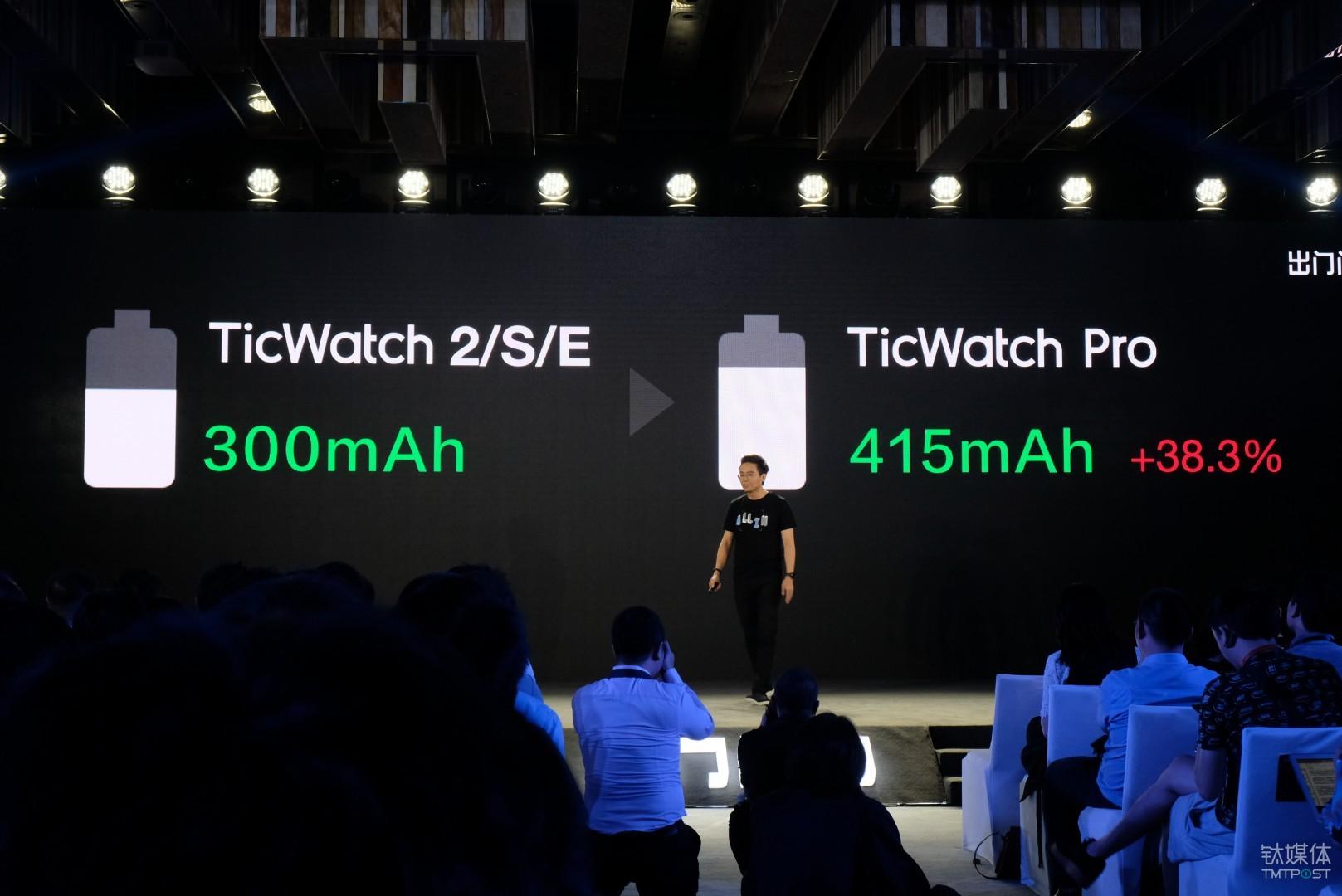 TicWatch Pro 电池增加,厚度却减薄