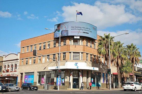 滴滴澳洲在吉朗投放户外广告,图片来源:Jiawen Lin