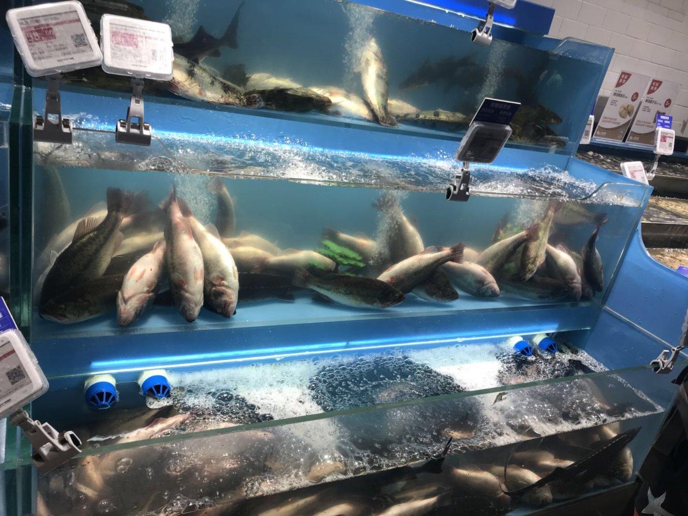 蓝鲸产经记者5月27日中午拍摄于小象生鲜方庄店