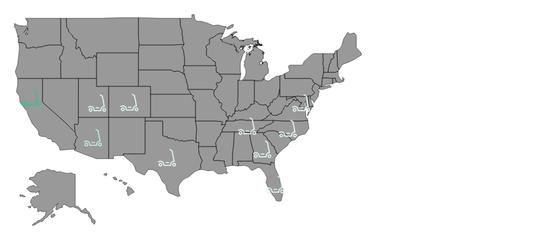全美电动滑板车的分布概况