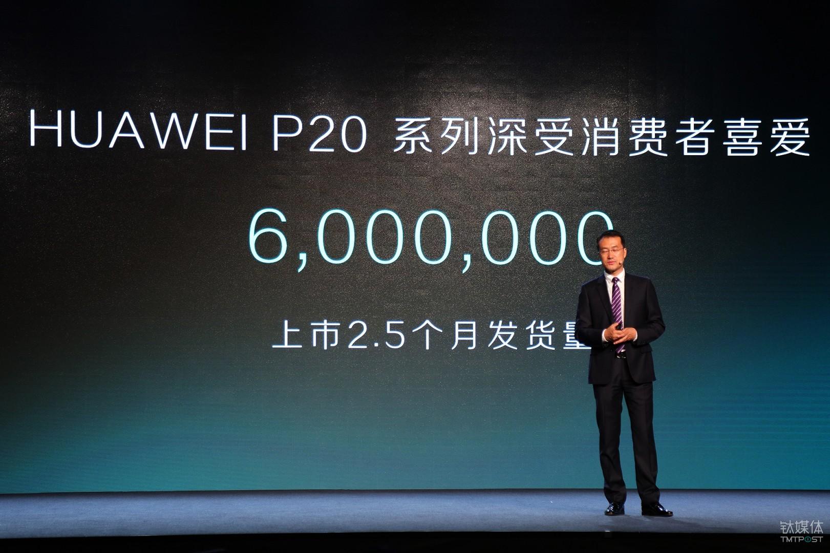 P20系列产品上市2.5个月突破6百万台