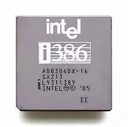 英特尔研制的32位微处理器80386