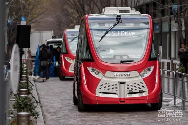SB Drive与Navya合作的无人巴士