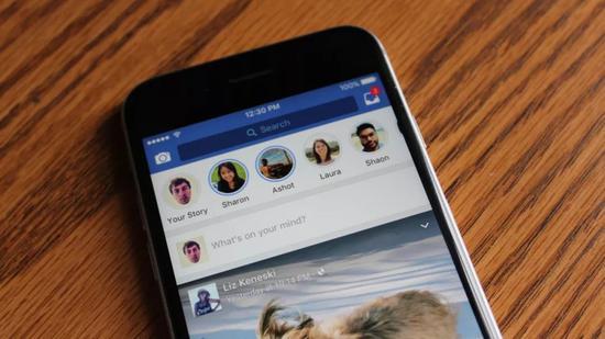 Facebook主应用上的Stories功能