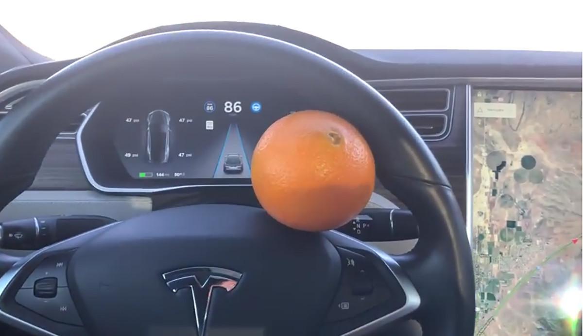 特斯拉高级辅助驾驶被一颗橘子骗过