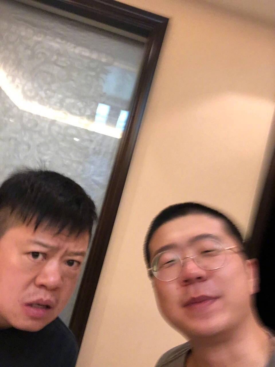 马东和李诞(图片来源:微博@李诞)