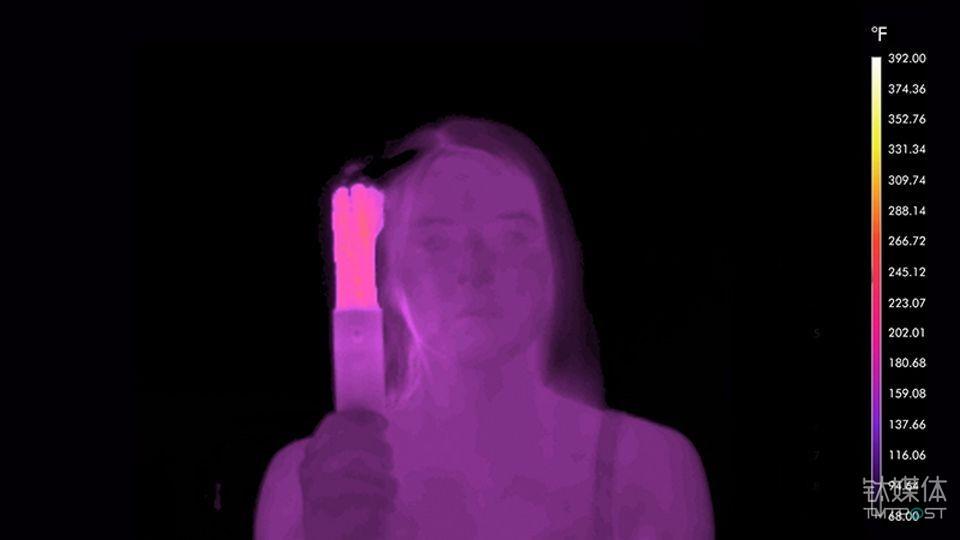 红外热图,温度不会超过150度