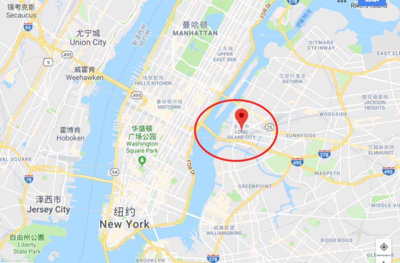 长岛市位于纽约最繁华的地段