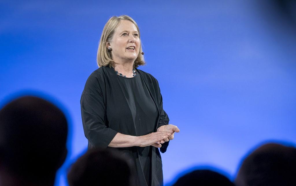 谷歌云前CEO Diane Greene,图片来源@视觉中国