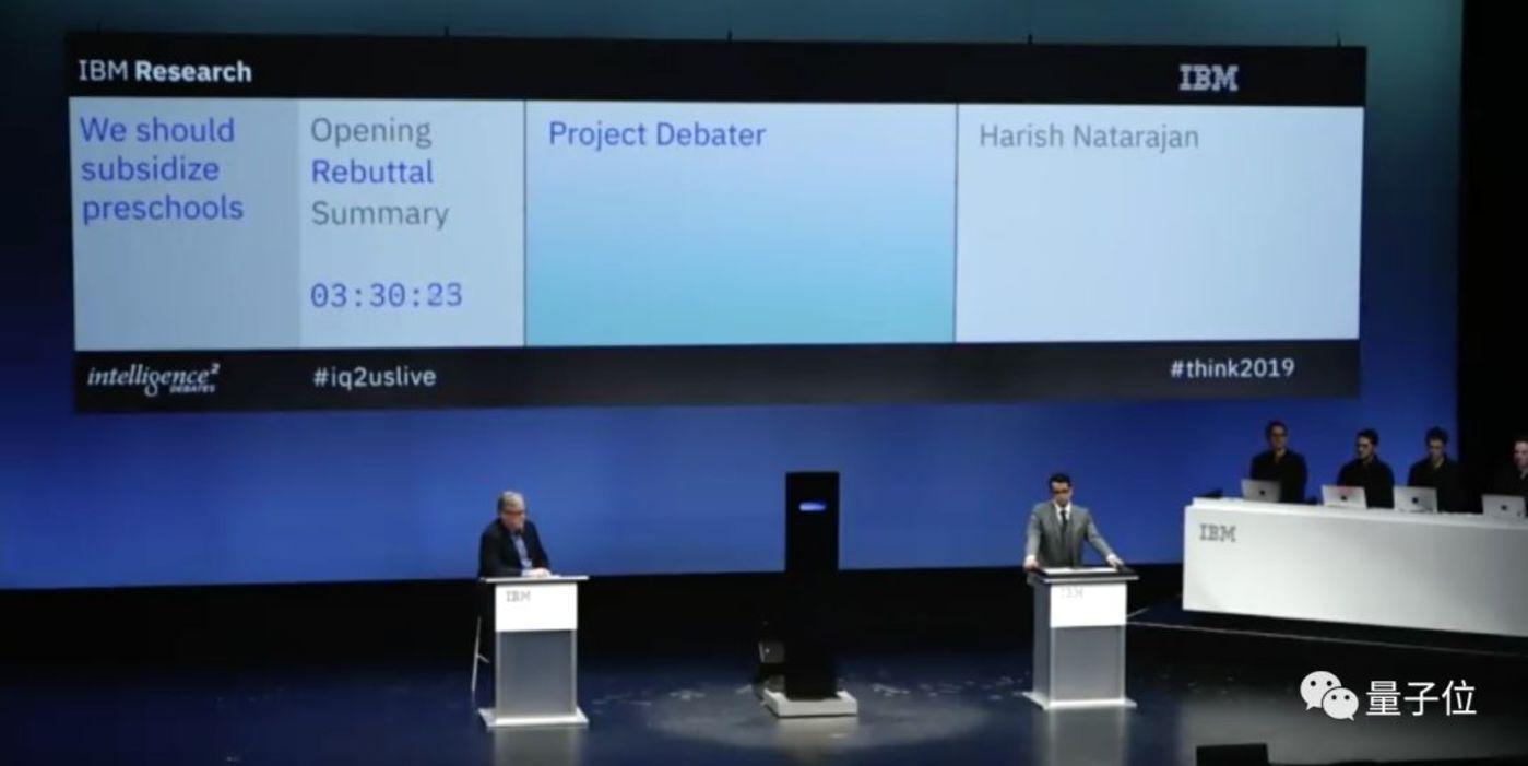 左为Project Debater,右为哈利什