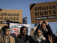 【图集】亚马逊放弃在纽约建设第二总部,当地民众集会庆祝