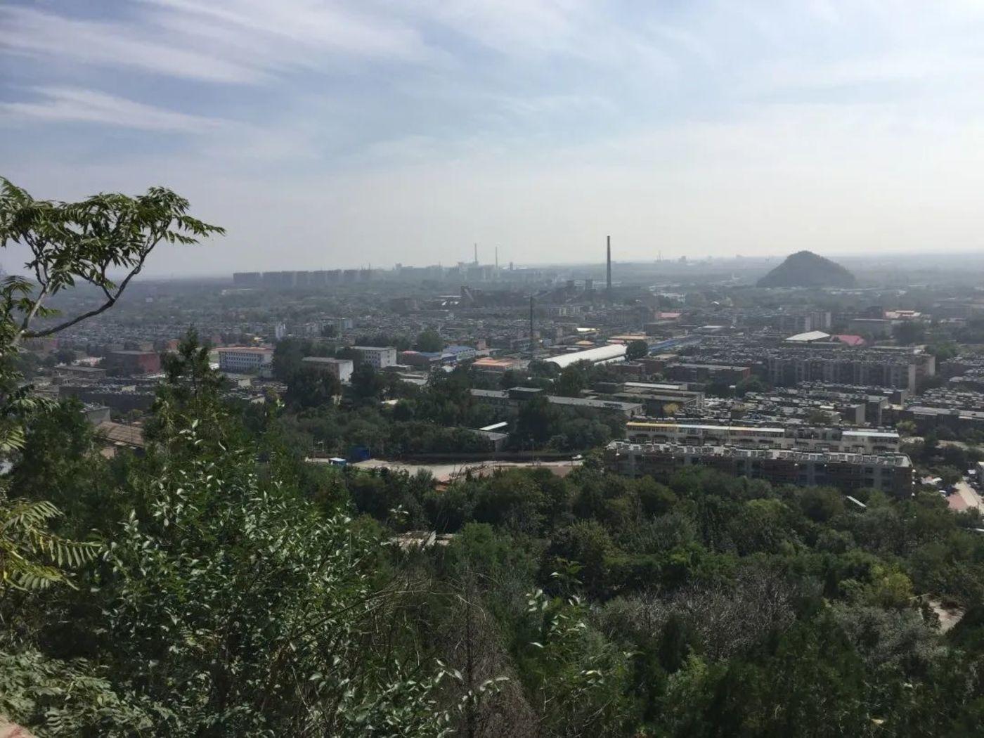 图:北山公园俯瞰赵各庄