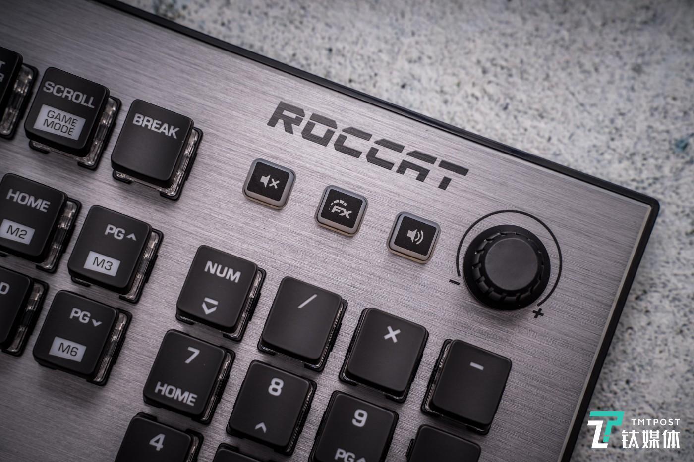 冰豹以前键盘右上角的旋钮得到了保留