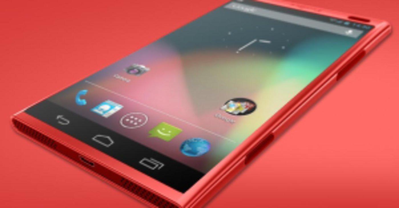 艺术家想象中的Lumia手机上的Android实体模型