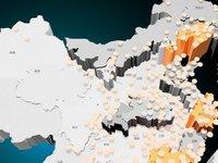 中国房地产泡沫地形图