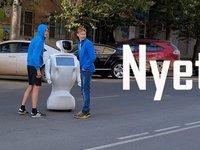 """机器人""""逃逸"""",这件事发生在了俄罗斯大街上"""