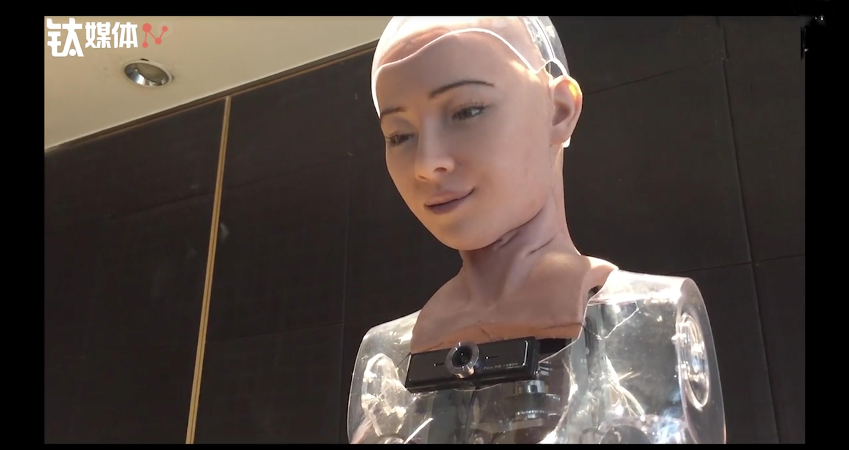 最可怕女性表情机器人Sophia,在钛媒体T-EDGE全球首发