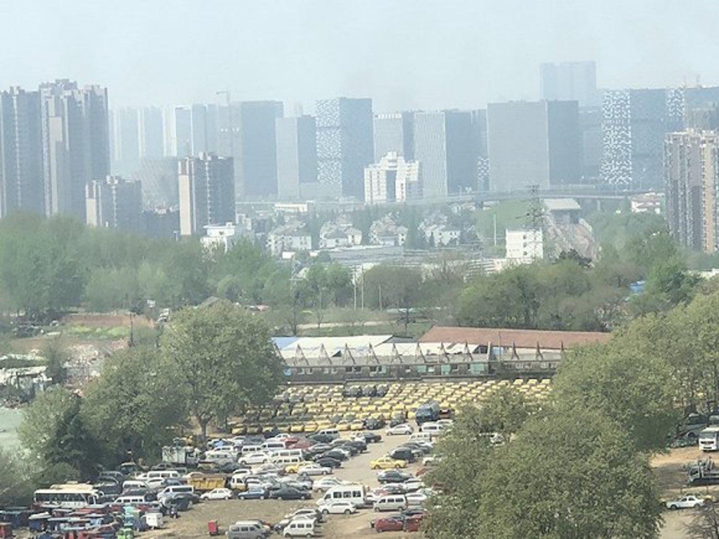 界面记者摄:位于南京市安德门附近的一处停车场