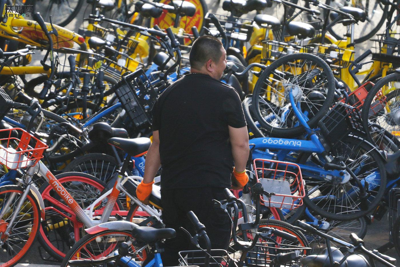 大强是一名共享单车搬运工,他每天用三轮或者厢货车在北京市内的公交车站、地铁站、写字楼之间运送共享单车。