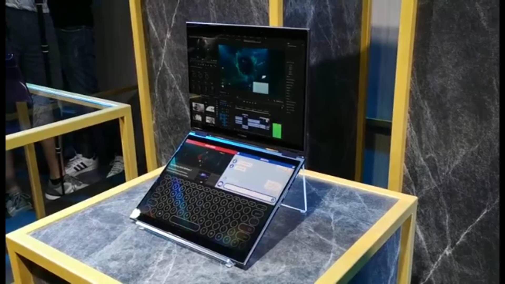 华硕概念双屏笔记本AI PC