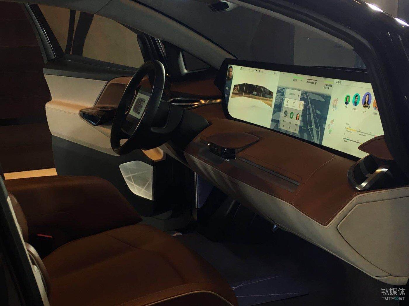 拜腾SUV车型的中控屏幕