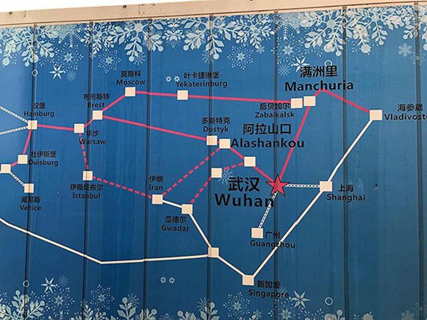 小龙虾行车路线图
