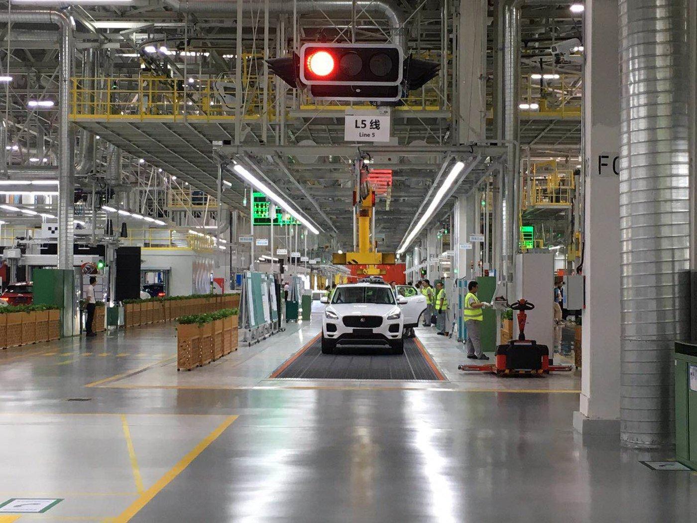 E-PACE在二期工厂装备完成
