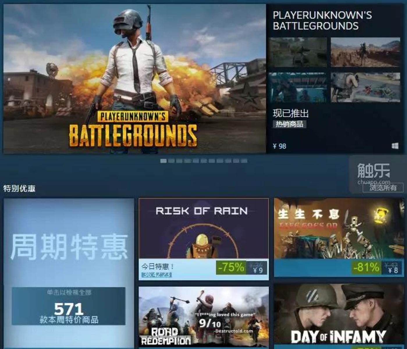 在Steam的首页推荐中,你看到的大多都是热门游戏,这减少了新的独立游戏的曝光量,也防止了大量的垃圾游戏污染首页