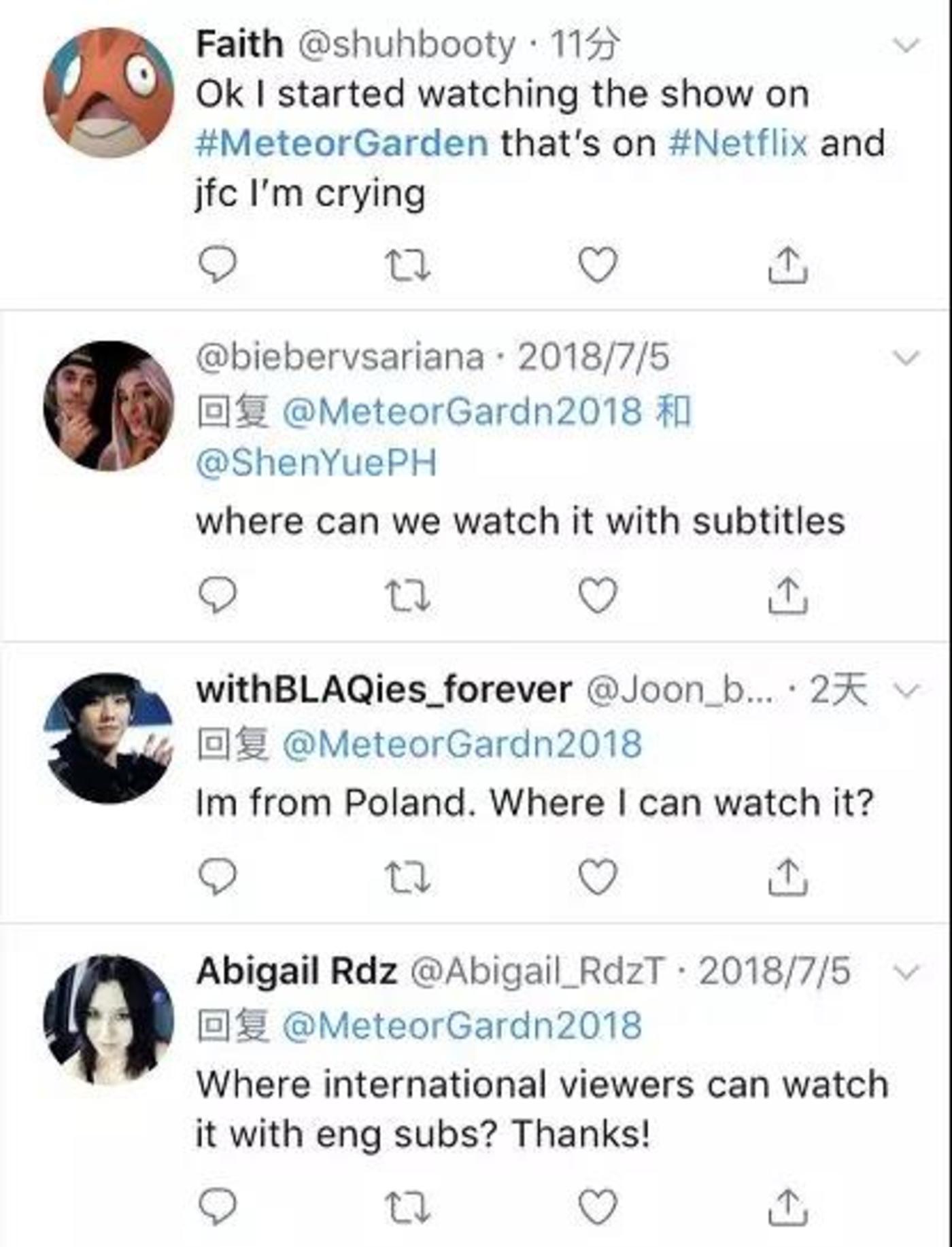海外网友表示:开始看《流星花园》的我已经哭了!
