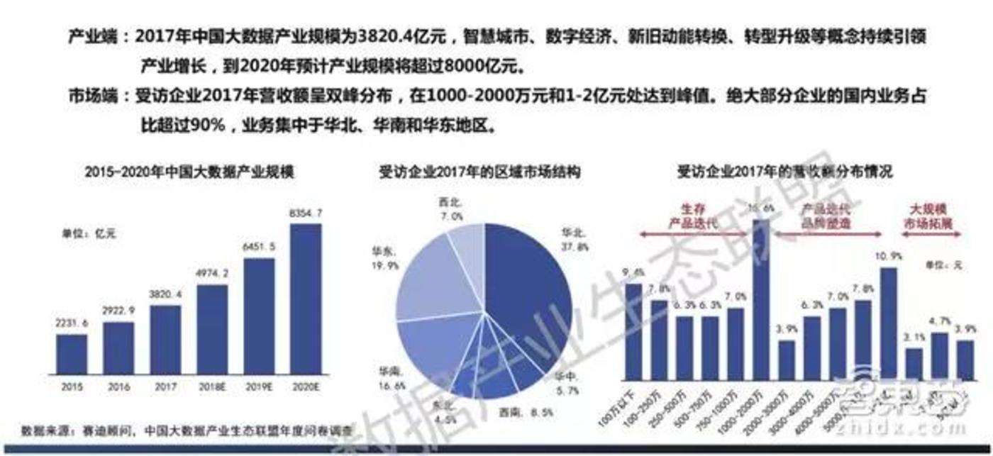 中国大数据产业持续增长,国内业务占主导
