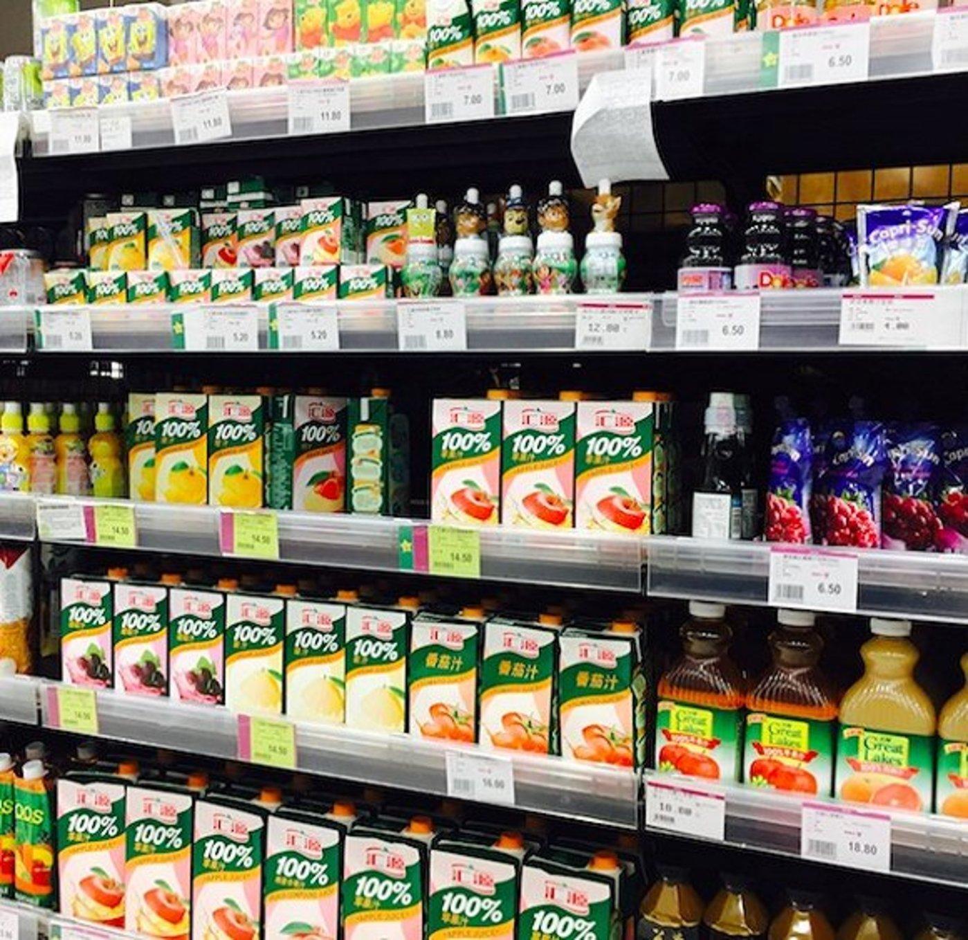 2018年8月,永旺超市汇源产品