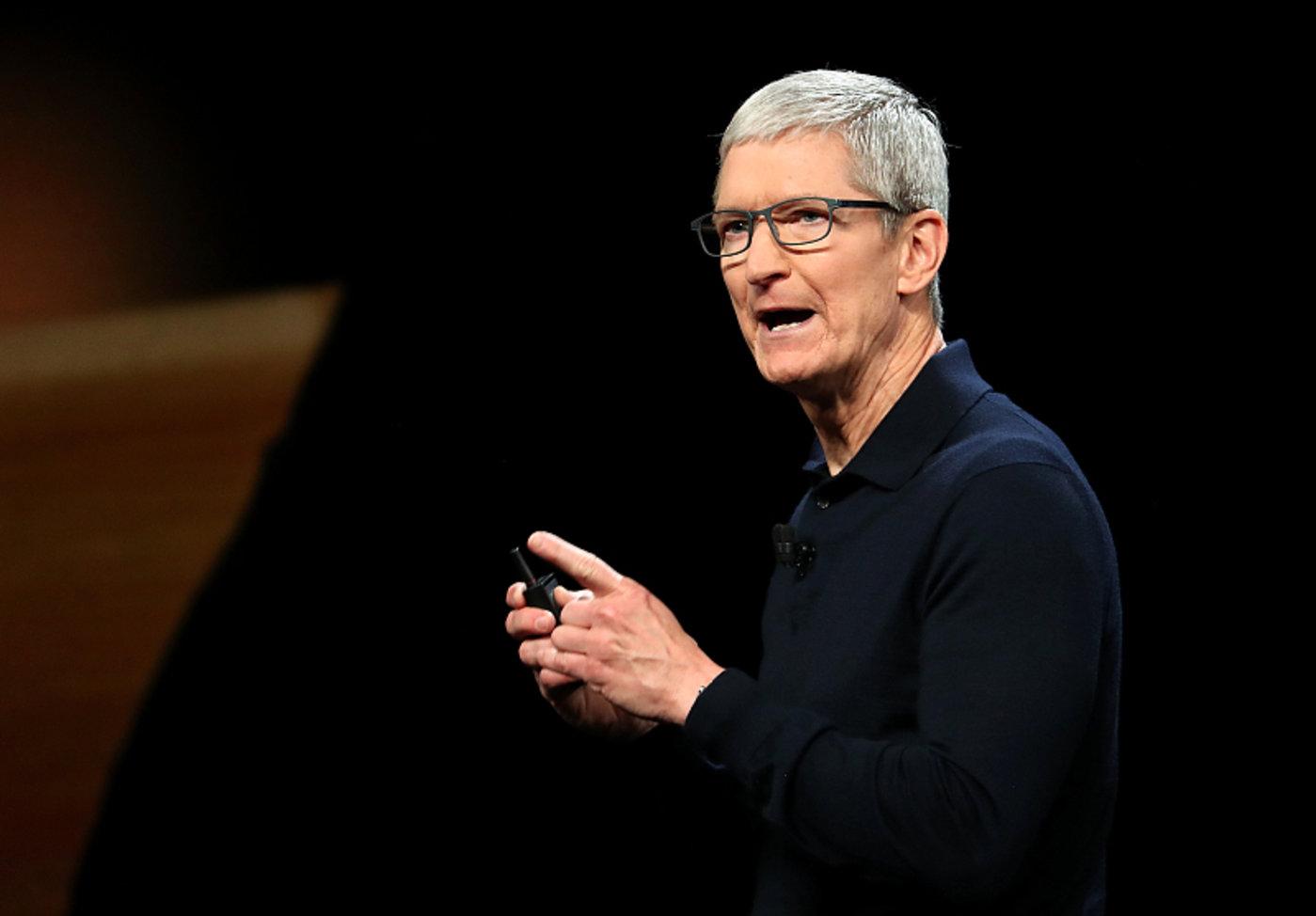 苹果CEO蒂姆·库克,图片来源视觉中国