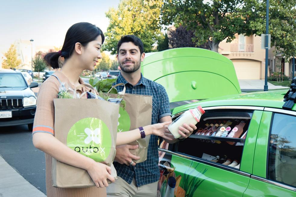 AutoX发布加州首个生鲜递送服务,无人车10分钟送达
