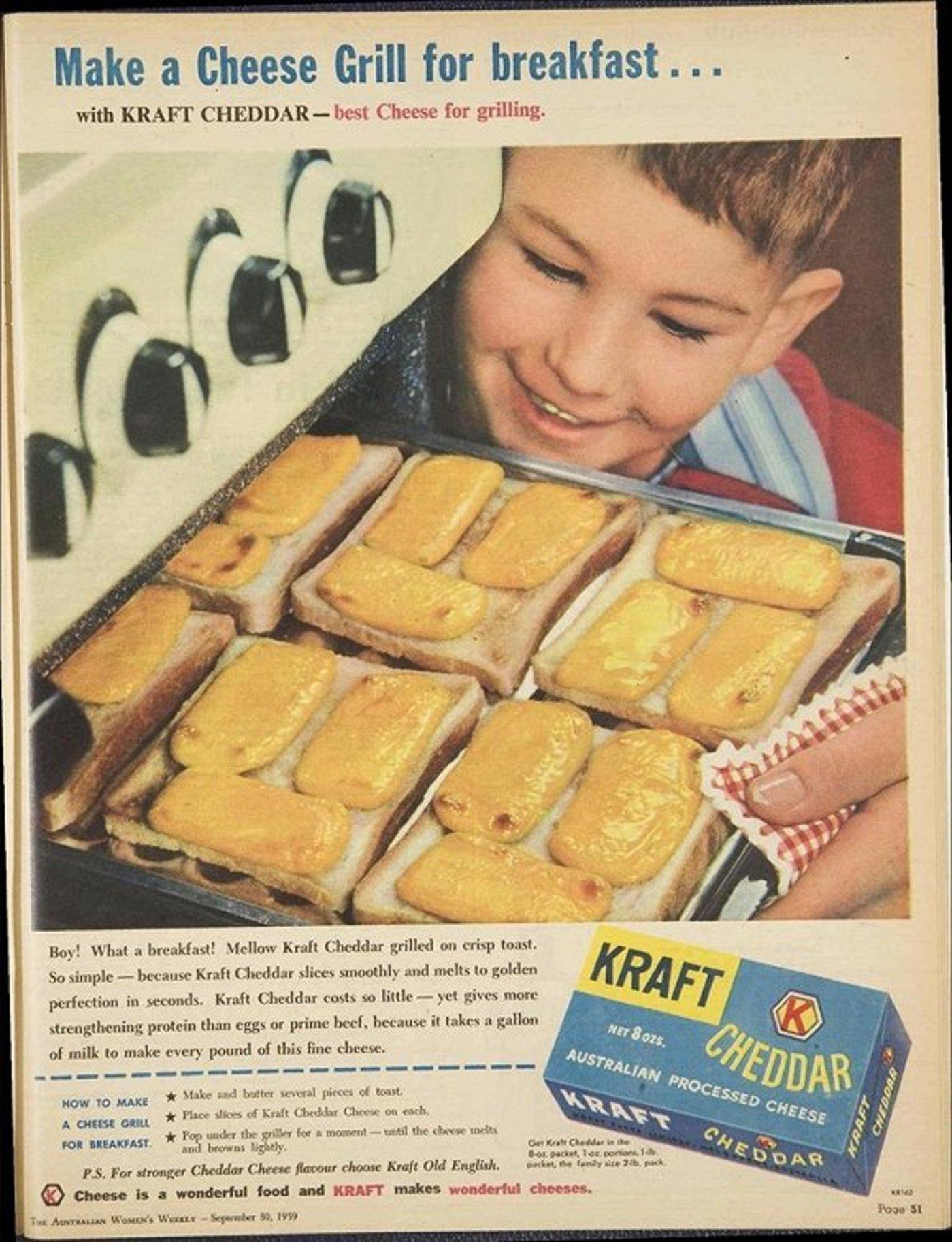 1959年的卡夫奶酪广告