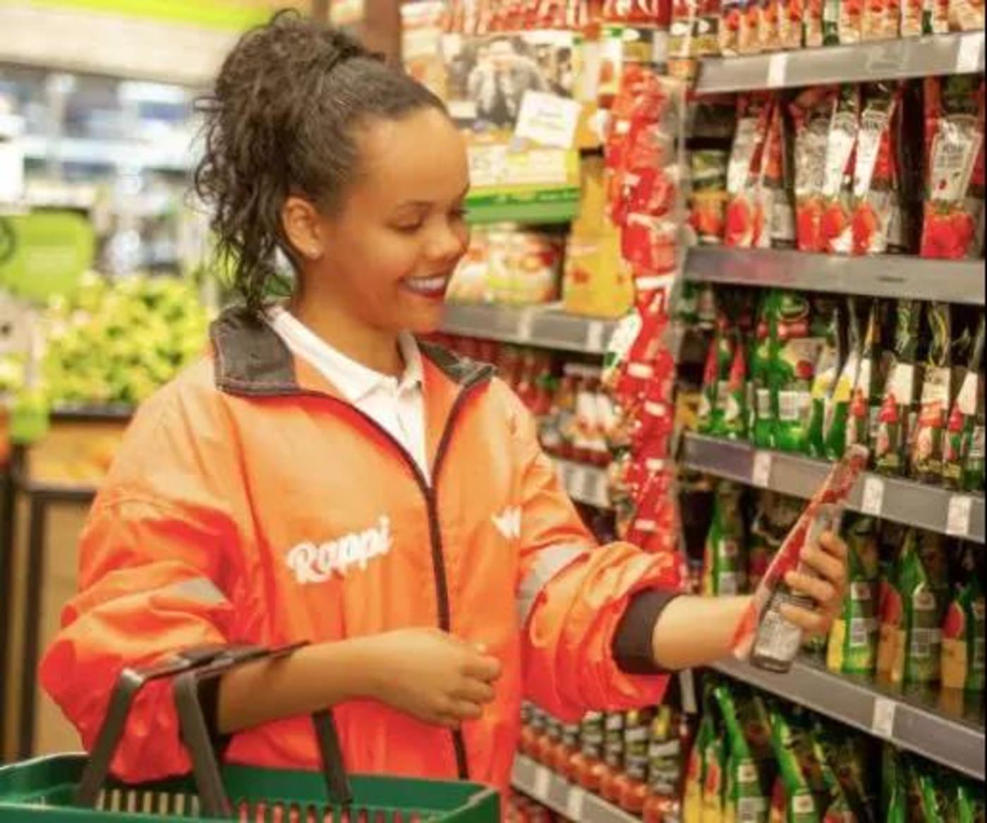 帮客户在超市购物
