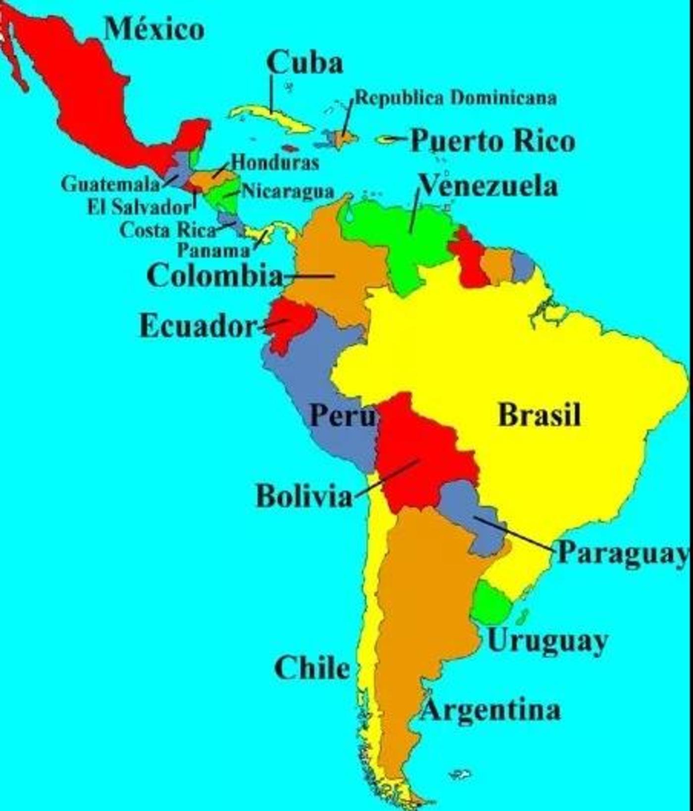 拉丁美洲主要国家