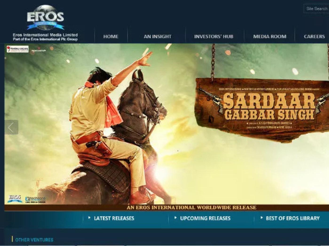 Eros International网站