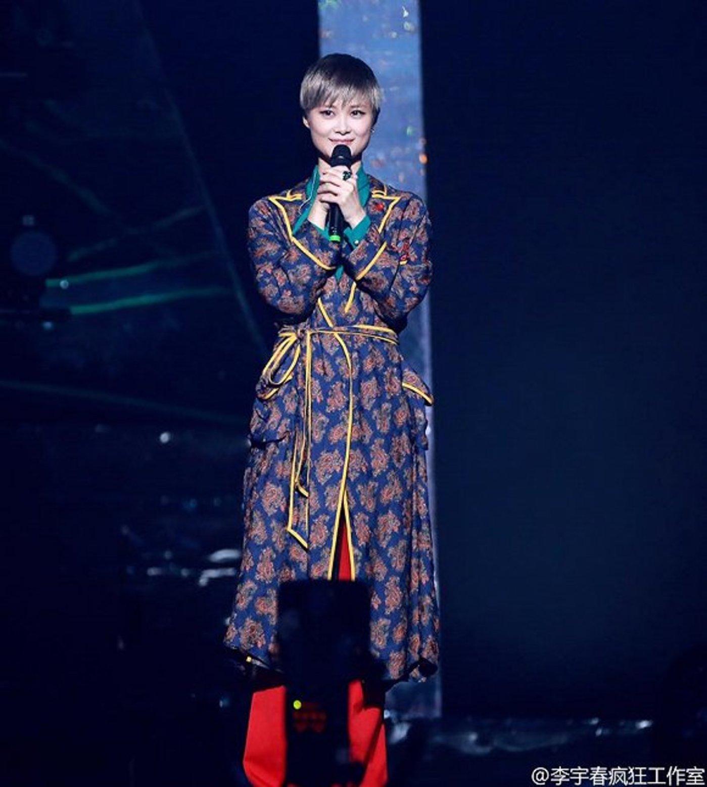 Gucci为全球代言人李宇春专门定制的演唱会服装 图片来源:李宇春疯狂工作室微博