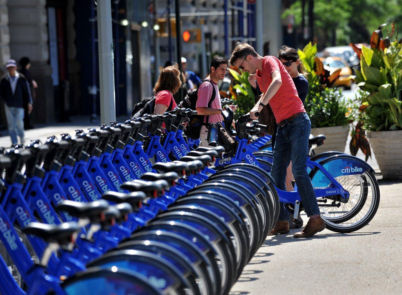 纽约花旗银行共享单车