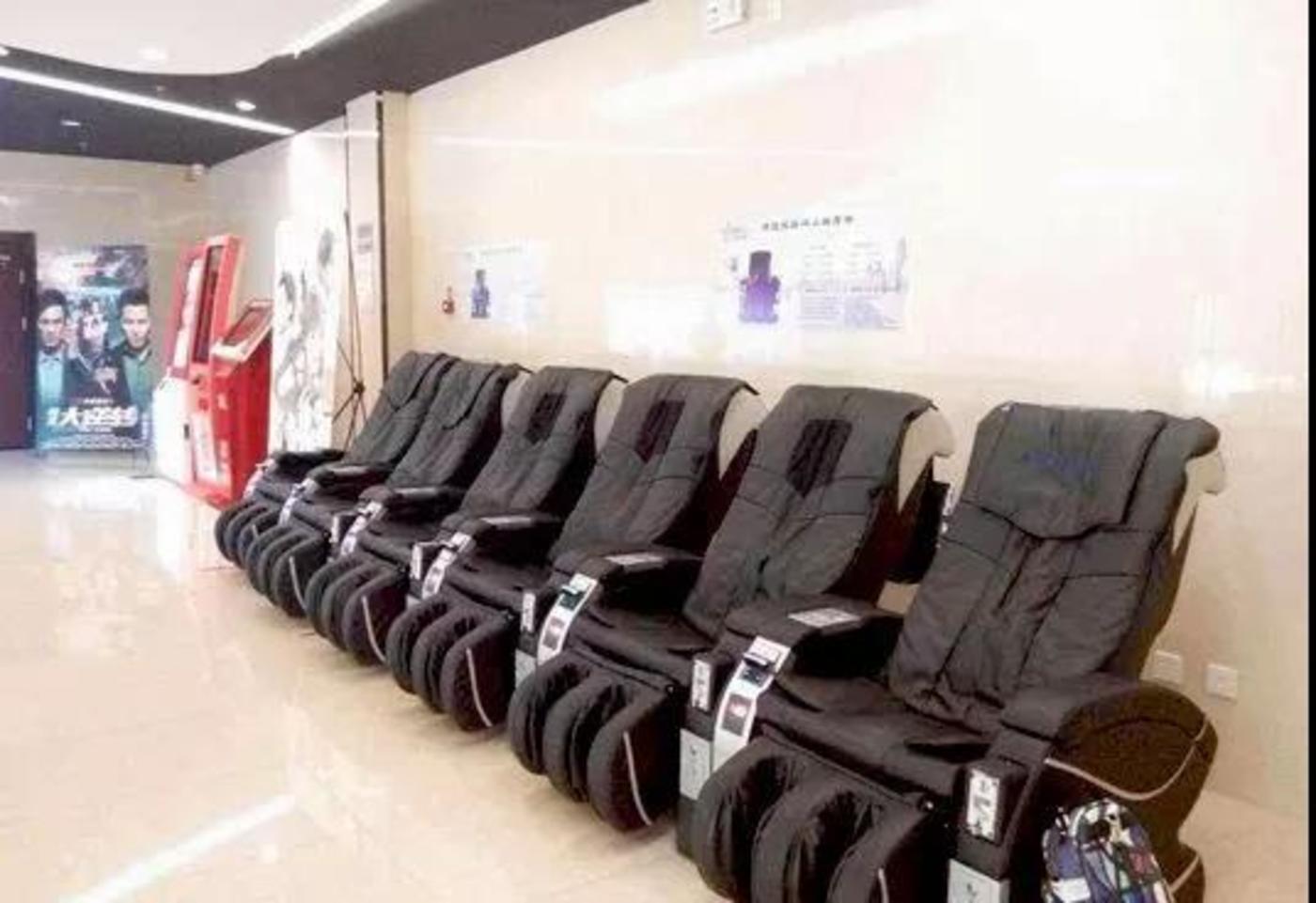 电影院里的按摩椅